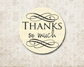Thank You Stickers - Wedding Party Favor Stickers - Treat Bag Sticker SP024