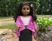 Magenta Cascade Kimono/cardigan, Made to fit 18 inch American Girl Dolls