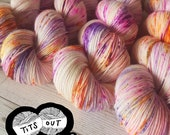 If I want exposure I'll get my tits out (Beehive's Bee Stings Edition) ~ handdyed merino nylon sock yarn ~ titsoutcollective