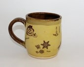 Pagan Wheel of the Year Ceramic Mug - yellow