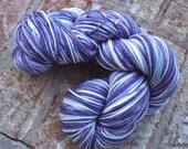 Ice Vortex of Indecision - 13% off - NEW hand dyed sparkly superwash Merino super soft wool blend sock yarn 402 yards 100 grams