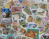 Animals - Lot of Worldwide Animal Postage Stamps for Art Projects, Collections, Decoupage, Paper Crafts, Collage and More...
