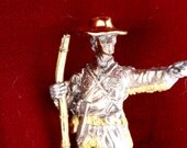 1976 Franklin Mint Daniel Boone Gold on Silver Statue