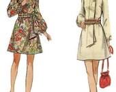 1960s Butterick 5654 Dress Pattern A-Line Raglan Sleeves Size 10 Bust 32.5 UNCUT