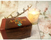 Our Adventure Book Luxury Wedding Ring Box • Double Ring Box • Up Inspired Engagement Ring Box • Proposal Ring Box