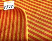 Albstoffe Bündchen, 11.80Euro/m, Bio-Bündchen, gelb orange, gestreift, Ringelbündchen, Streifen, bio, Biberkidz, 0.25m=Stückzahl1