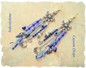 Custom Order - Glamour Mermaid Earrings, Chandeliers, Bohemian Jewelry, bohostyleme, Kaye Kraus