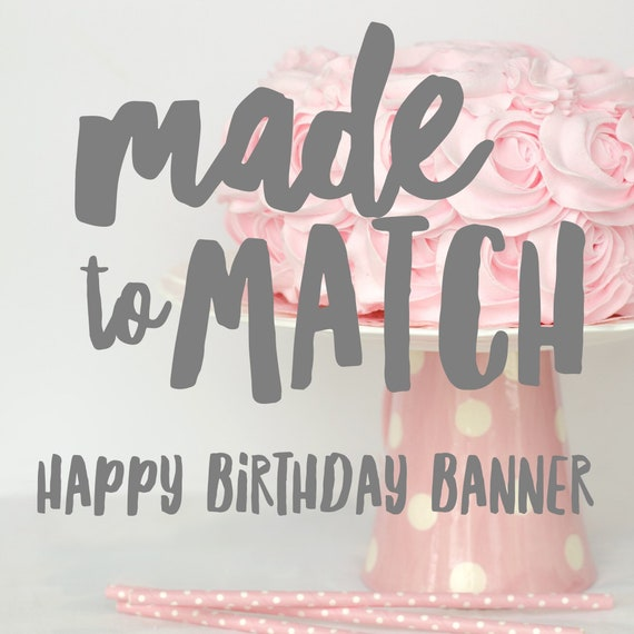 made to match large circle scallop happy birthday banner