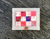 Needle keeper with pocket / patchwork / linen / sewing kit