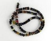 Natural Autumn Tourmaline Faceted Rondelle Beads 2x4mm Destash Sale