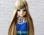 Blond Brown Long Wig for J-doll, Momoko, Obitsu 3.5-4 inch