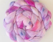 Faux cashmere, Hand dyed roving, vegan friendly fiber, combed tops, hand dyed roving, vegan fibre,  non wool roving, Cruelty free fiber
