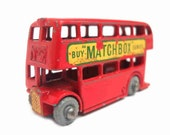 1950s Vintage Matchbox Lesney 5b London Bus Buy Matchbox. Toy Collectible. Made in England