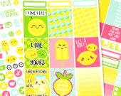 Lemon Planner Sticker Kit - Pun Planner Stickers - Lemonade Planner Kit - Full Kit - Mini Kit - A La Carte - Planner Sticker Kit