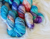 Part of Your World Hand Dyed Fingering Weight Yarn for Knitting and Crochet
