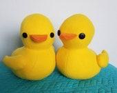 Handmade Ducky Duck Stuffed Animal Plushie Toy