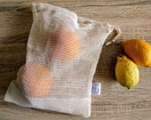 Fruits and vegetables, organic cotton net bag, zero waste