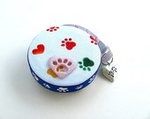 Measuring Tape with Rainbow Dog Paws Pocket Retractable Tape Measure