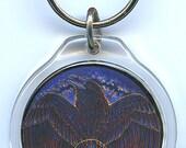 Fire Raven Phoenix Key Chain