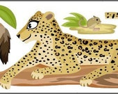 "Wall decal ""leopard"" Jaculus & Bat-eared fox"