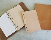 Leather Dashboard for looseleaf ring bound planners