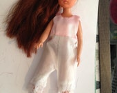 Vintage Sindy Barbie Satin and lace Knickerbockers Suit