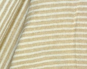 0,5 M Yarn Dyed Stripes Batist Streifenstoff Beige