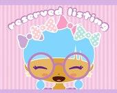 Custom Order for Kate  - Flower Crown Girl Kitty Cats Black Boho Bag Small Drawstring Favor Bag For Birthday Party Reusable Gift Bags