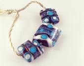 Lampwork Kalera 3 Bead Set Summer Destash Sale