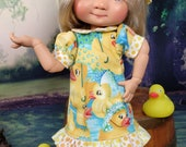 Dumpling RUBBER DUCKY Dress, Hat and Panties plus Ducky  and Shoes - Fits all Dumpling Dolls Giggi, Bailey and the rest of the 11 In Gang