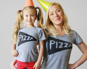 Kids Baby Pizza T Shirt, back to school birthday gift beach baby girl clothes boy childrens clothing toddler 2 4 6 year old 3 to 6 mos
