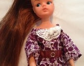 Sindy Doll Vintage Inspired Floral Lace Dress New Handmade