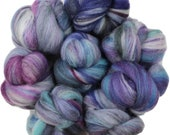 Smoke and Mirrors -- mini batts (2 oz.) merino wool and tussah silk