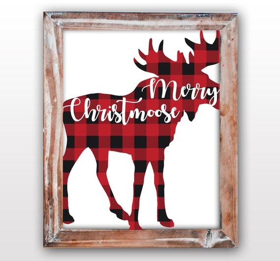 il_570xn - Christmas Moose Home Decor