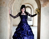 Purple Gothic Wedding Dress, Offbeat Wedding Dress, Alternative Wedding Dress, Purple Wedding Dress, Gothic Wedding Dress