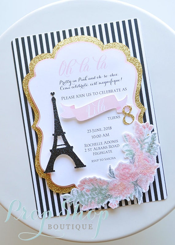 Paris eiffel tower birthday invitation by prop shop boutique catch il570xn filmwisefo