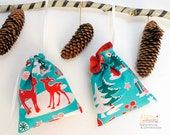 Adventskalendersäckchen, einfache Adventskalenderbeutel für Weihnachten nähen, Schnittmuster und Nähanleitung (PDF)