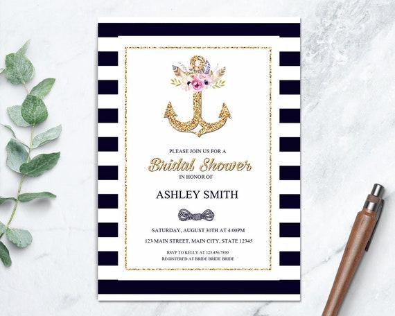 Nautical bridal shower invitation beach theme wedding shower il570xn filmwisefo