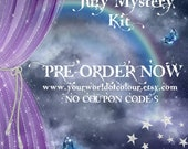July Mystery Kit Planner Stickers, Planner Charm, Erin Condren, organiser, schedule, TN, Happy Planner, Stars, Rainbow, Sky, NO COUPON