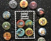 Build Your Own Spooky Halloween Pin Set or Magnet Set