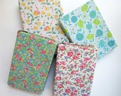 Vintage Fabrics Covered Book Set, Floral & Feed Sack Fabrics Book Stack,  Library Accent, Decor Book Set, Table Books, Rustic Vintage Books