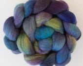 Corriedale, Hand dyed roving, hand spinning, fiber, Corriedale combed tops, handspinning, wool sliver, hand dyed tops, felting materials