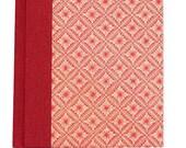 Notizbuch A6, Retro-Lotus Mit Personalisiertem Vorsatzpapier