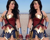 COSTUME Wonder NEW Superhero Woman with GOLD metal accents