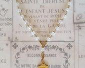 Chaplet of Sainte Thérèse in Opalite & 18K Gold Vermeil