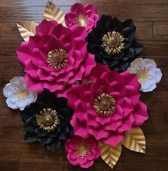 8 piece kate inspired paper flowers wedding decor bridal decor il570xn mightylinksfo