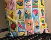 Mexican Loteria Pillow