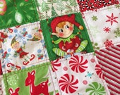 Quilts, holiday quilt, holiday gift, baby's first Christmas, toddler Christmas, biy Christmas, girl Christmas, crib/stroller quilt, handmade