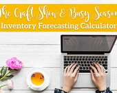 Inventory Forecasting Calculator - Inventory Spreadsheet - Inventory Template -  Business Tools for Handmade Sellers - Small Business Tools