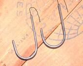 CUSTOM ORDER Set of Blacksmith Handmade Iron Flat Bar Pot Rack Hooks by VinTin
